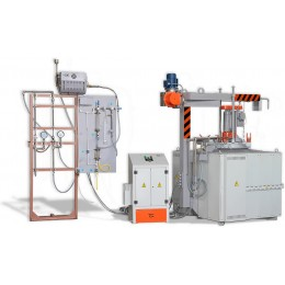 Furnace for nitriding metal СШАМ